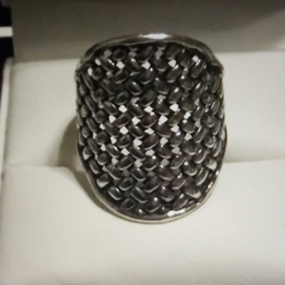 Or Paz Jewelry - OR PAZ  Sterling Basketweave Texture Ring Sz 8
